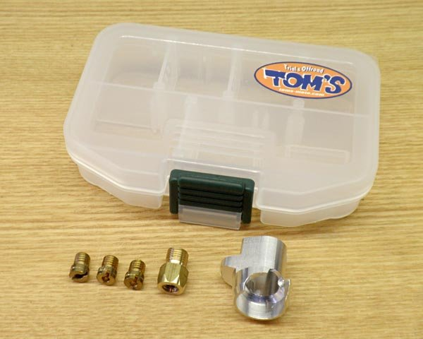 画像1: TOM'S アルミバッフルカバー&セッティングセット TY125-4T、ランドネ、BETA RR4T-125 (1)